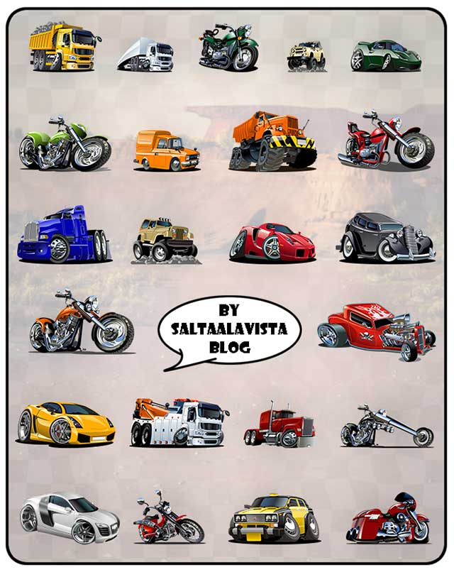 Vehículos-Caricaturizados-en-Formato-AI-y-PNG-by-Saltaalavista-Blog