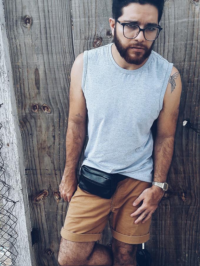 pochete masculina moda