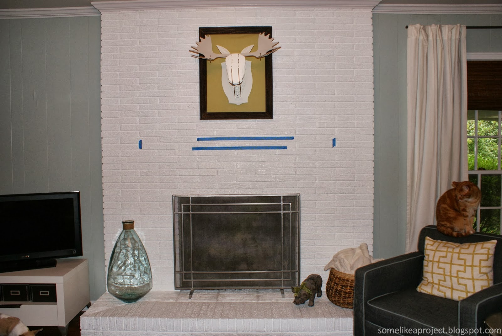 some like a project how we built a floating fireplace mantel rh somelikeaproject blogspot com Floating Mantel Brackets Fireplace Mantel Floating Shelves