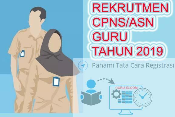 GAMBAR REKRUTMEN CPNS/ASN GURU TAHUN 2019