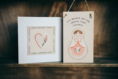 You Can Folk it Babushka painting kit - heart and doll design