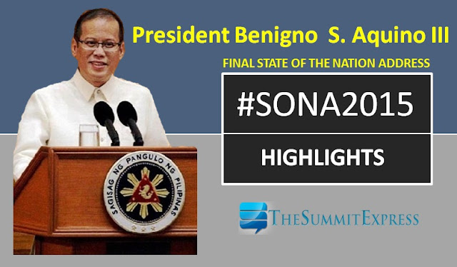 President Aquino SONA 2015 highlights, review for reaction paper