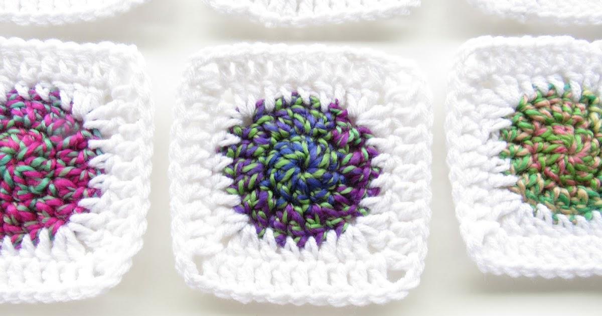 Sunburst Granny Square Crochet Pattern Marias Blue Crayon