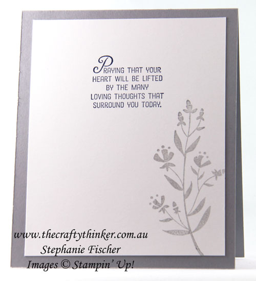 Sympathy Card, Daisy Punch, #thecraftythinker, Stampin Up Australia Demonstrator, Sydney NSW