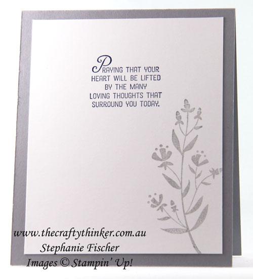 Sympathy Card, Daisy Punch, #thecraftythinker, Stampin Up Australia Demonstrator, Sydney NSW