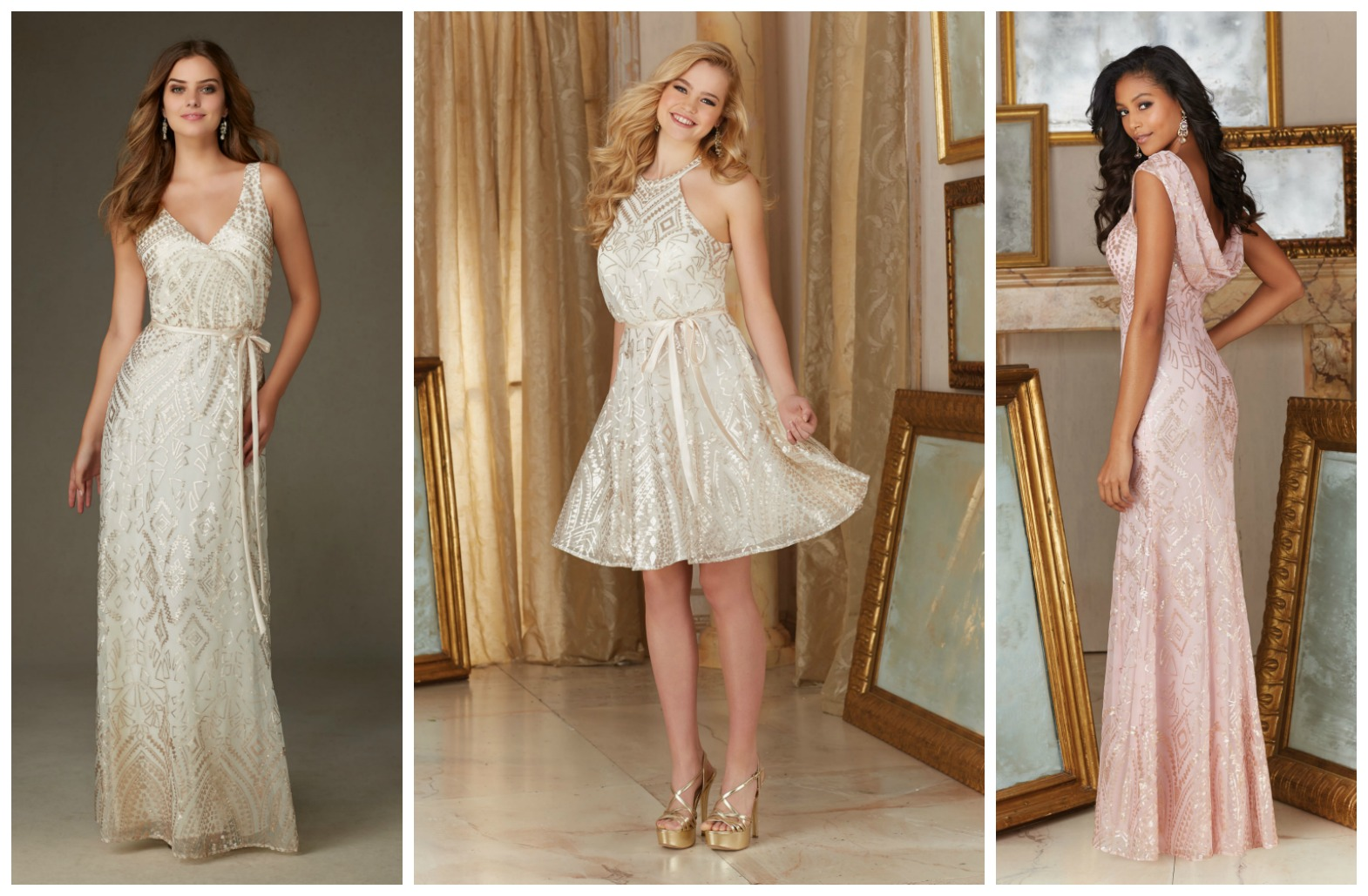 Brides of america online store patterned sequined for Wedding dresses in south florida