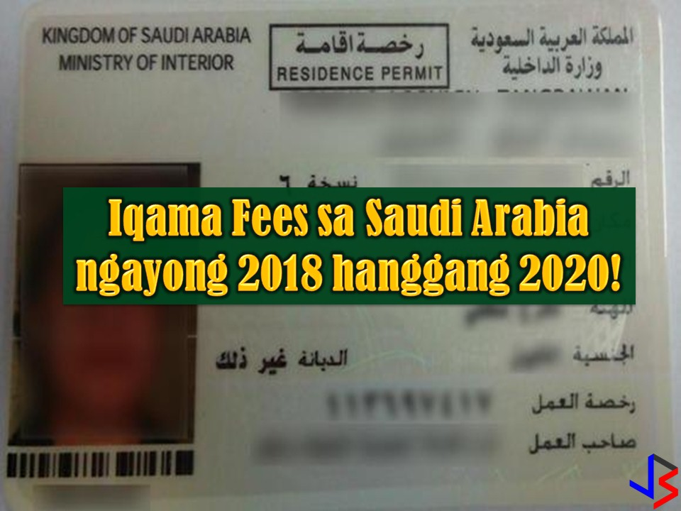Saudi Arabia is still one of the top destinations of Overseas Filipino Workers (OFW), especially for skilled workers. To manage expatriate or foreign hiring in the kingdom, the government is using Iqama also known as a residence permit. This permit is being issued to all expatriate who arrived in Saudi Arabia on an employment visa.