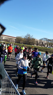 Recreational runners at the start of the St. Pat's Day 10K