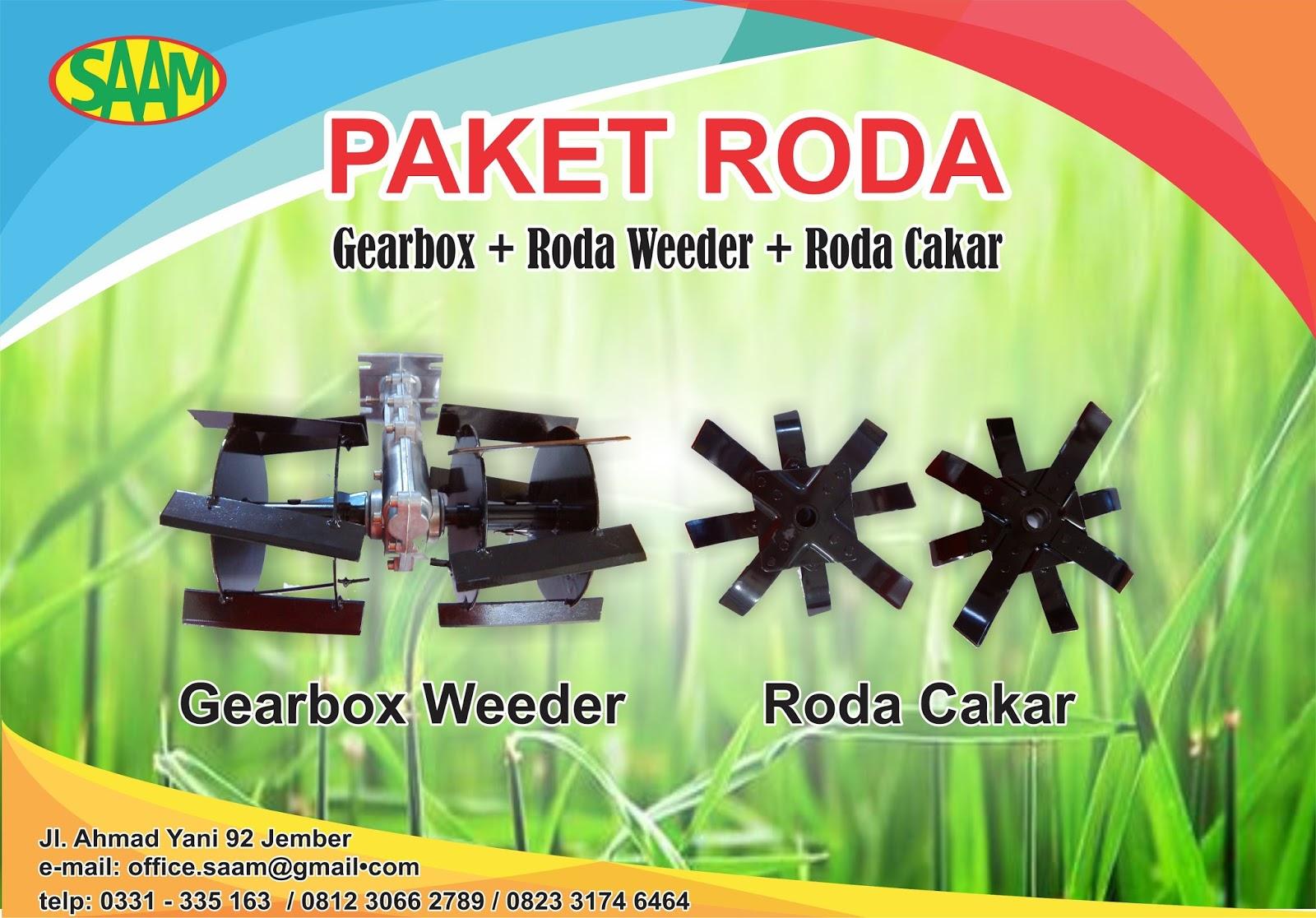 Penyiang Gulma Dan Olah Tanah Gearbox Roda Weeder Dan Roda Cakar Santoso Advance Agricultural Machinery