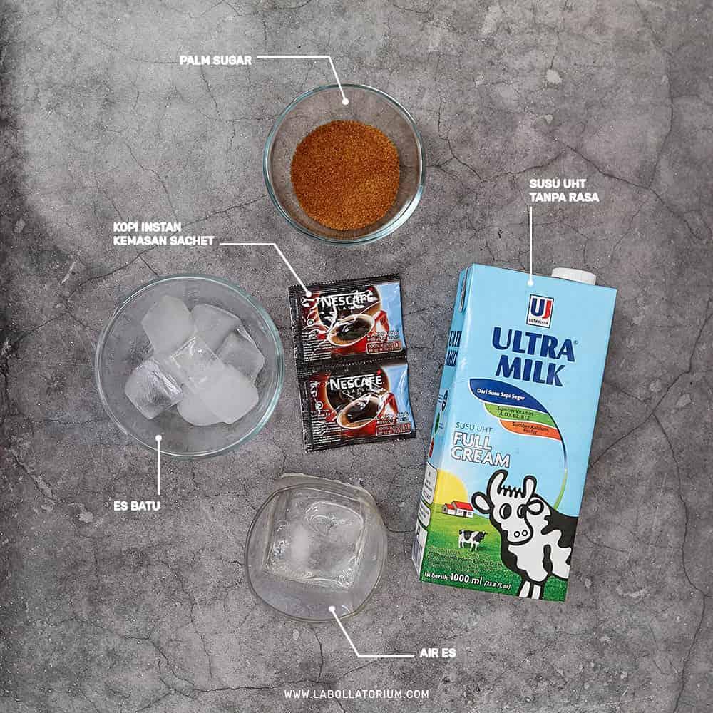 Bahan-Bahan untuk Resep Dalgona Coffee Anti Gagal