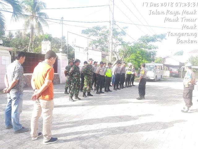 Kapolsek mauk Pimpin Apel pengamanan kunjungan Ibu Panglima TNI