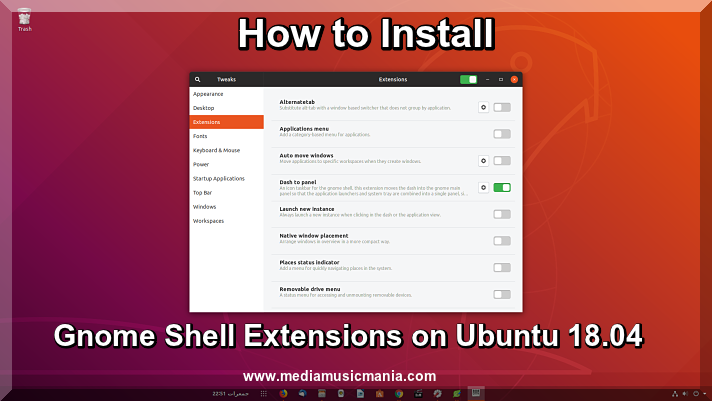 How to Install Gnome Shell Extensions on Ubuntu 18.04