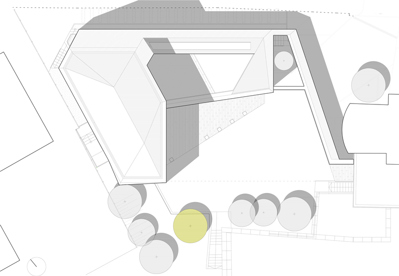 Roof floor plan of Ultra Modern House by architekti.sk, Slovakia