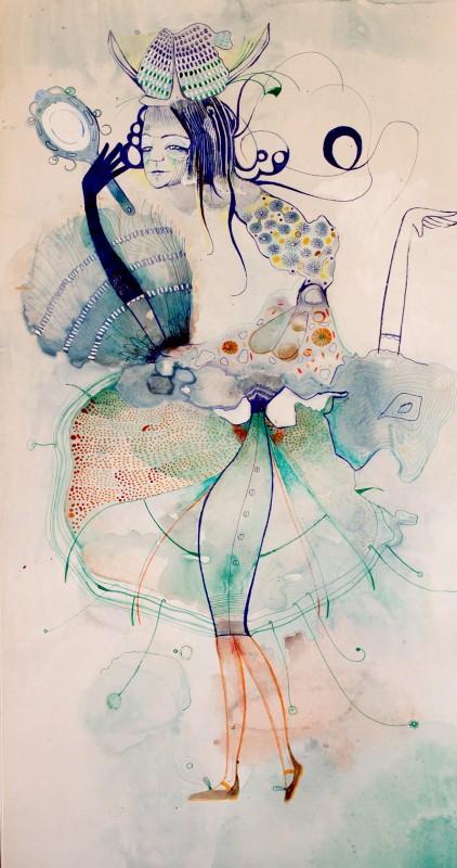 Наивные рисунки акварелью. Estela Cuadro 25