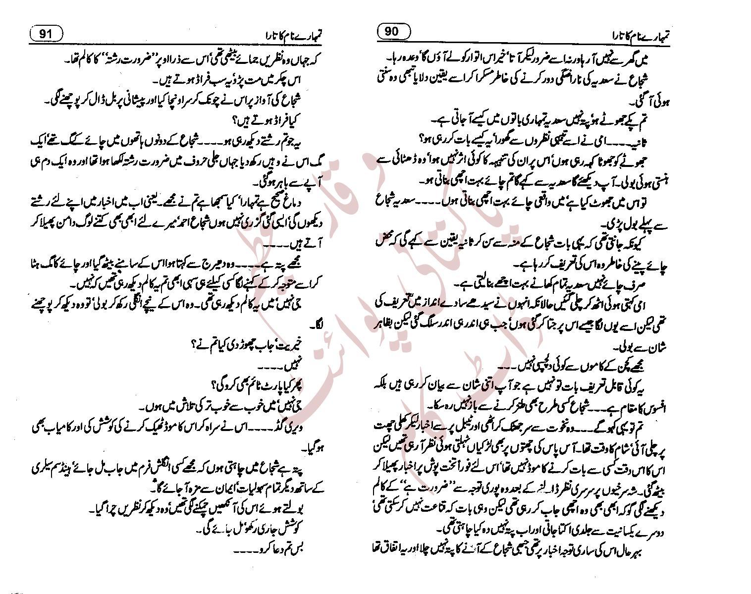 Tumhare Naam Ka Tara By Nighat Abdullah Forced Marriage