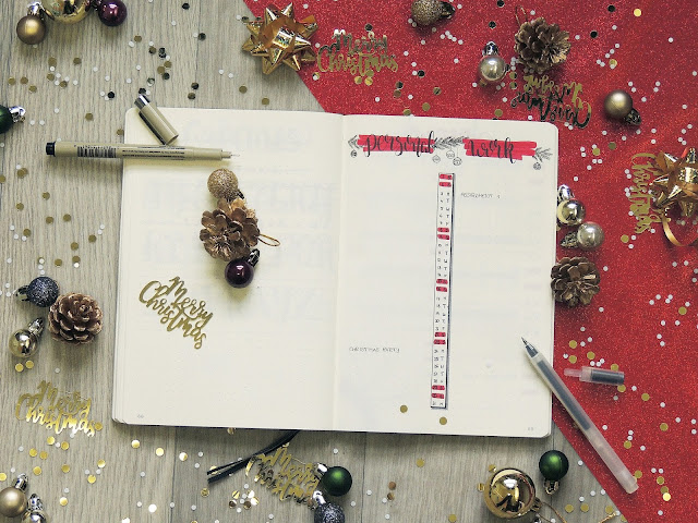 bullet journal monthly log idea blogmas glitterisblack