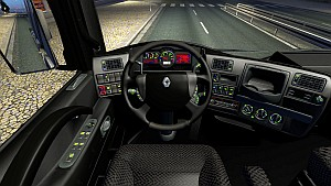 Dark Colours dashboard and interior for Renault Magnum