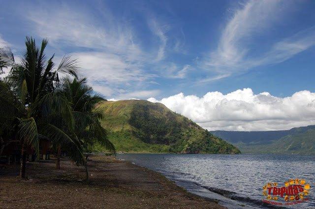 Taal volcano island beach
