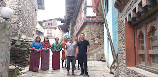 Group photo with my Chief and colleagues at Trong Heritage Village in Zhemgang