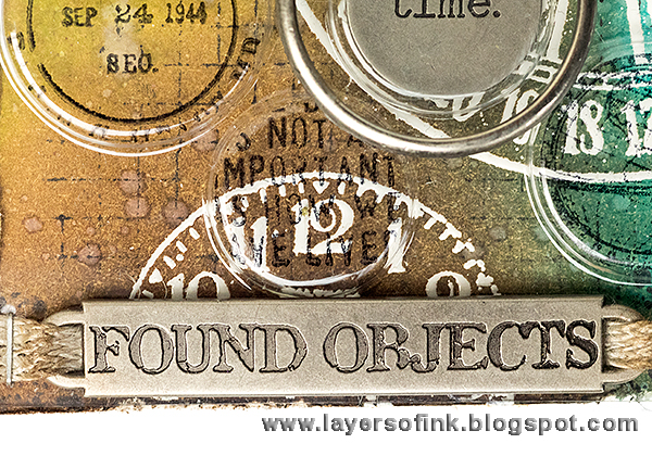 Layers of ink - Recycled Time Tag Tutorial by Anna-Karin