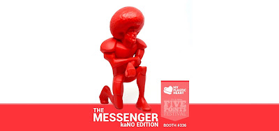 Five Points Festival 2018 Exclusive The Messenger Red kaNO Edition Vinyl Figure by myplasticheart x Munky King