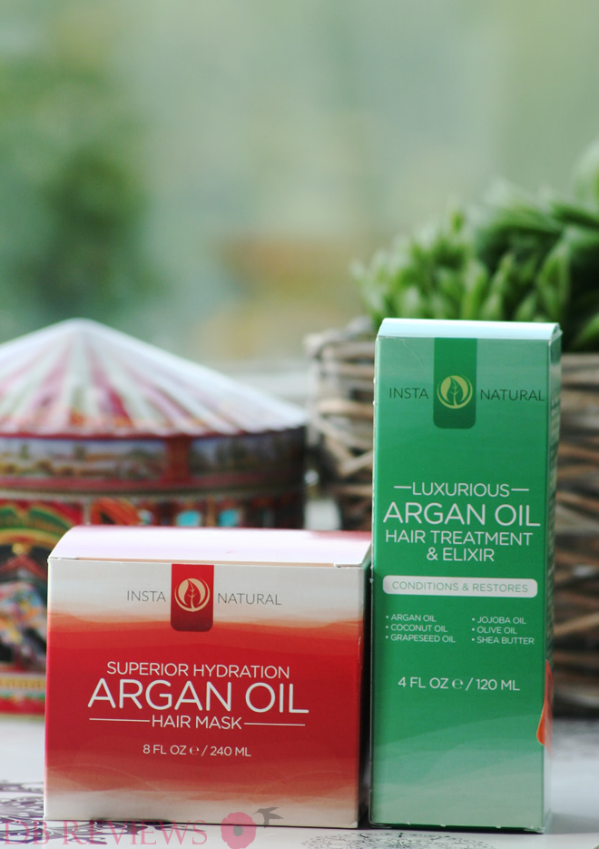 InstaNatural's Argan Oil Hair Mask and Argan Oil Hair Treatment & Elixir