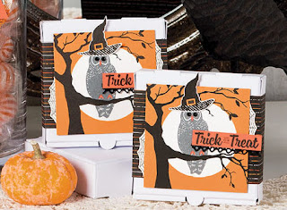 Stampin' Up! Spooky Cat pizza box gift idea ~ 2017 Holiday Catalog ~ www.juliedavison.com