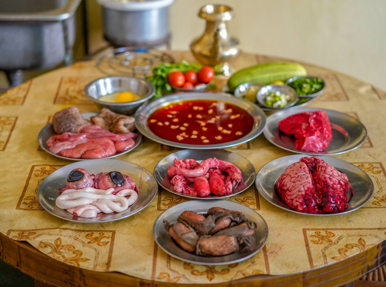 buffalo feast, nepal