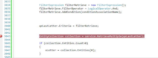 CRM RetrieveMultiple QueryExpression to retrieve the top one last created record