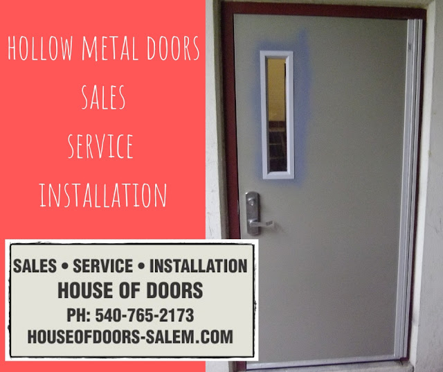 Hollow metal doors and frames sold, serviced and installed by House of Doors - Roanoke, VA.