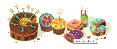 Google Celebrates My Birthday