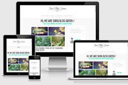 Sora Blog Green Responsive Blogger Template Free Download