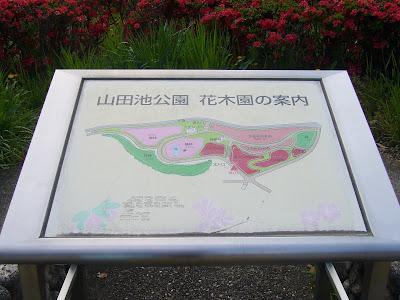山田池公園 花木園の案内