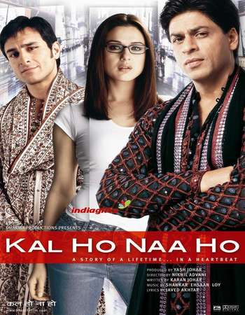 Poster Of Kal Ho Naa Ho 2003 Hindi 700MB BRRip 720p ESubs HEVC Watch Online Free Download downloadhub.in
