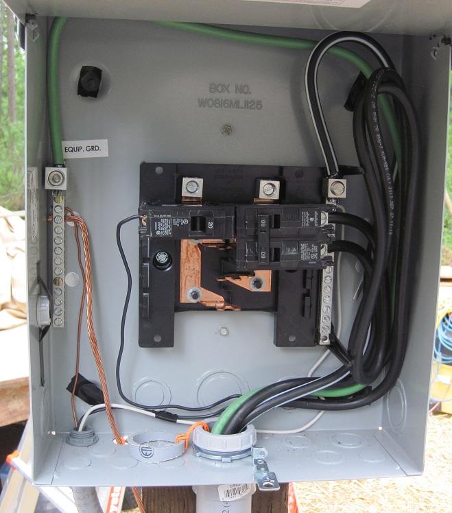 Wiring A Secondary Breaker Box