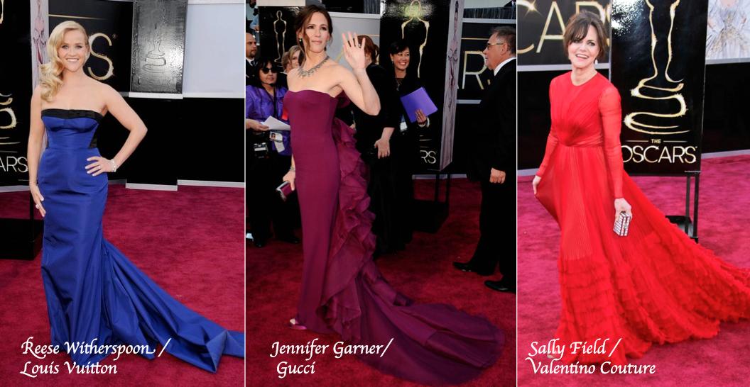 0377abd949803 ST: Oscar'larda her sene yeni bir nane çıkıyor başımıza; bu seneninki de  bence kuyruk. CÖ: Üçü de harika ve klas elbiseler! Jennifer'ın sırtındaki  detay ...