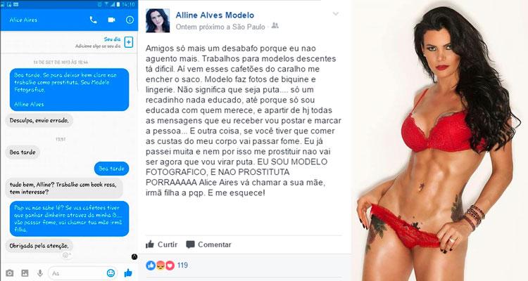 Modelo tabirese, Aline Alves - Foto: Divulgação/ S1 Noticias