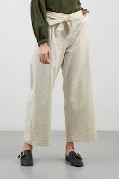 KUDO Celana Panjang Wanita Long Pant In White Bone Colour ANDHIMIND