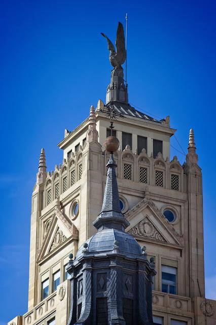Los tejados de Madrid a vista de Zoom. Calle Alcalá (2), de calle Sevilla a Plaza de Cibeles