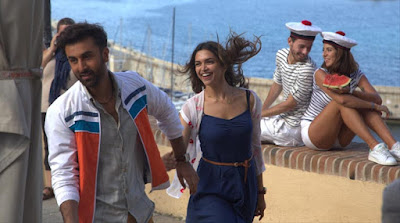 Ranbir Kapoor (as Ved) and Deepika Padukone (as Tara)  in Tamasha, Directed by Imtiaz Ali