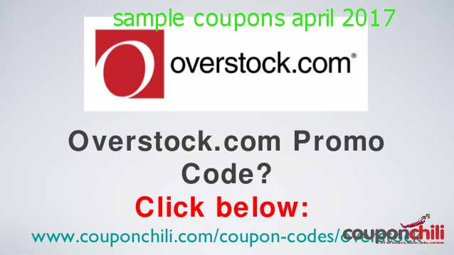 Overstock coupon codes 2018