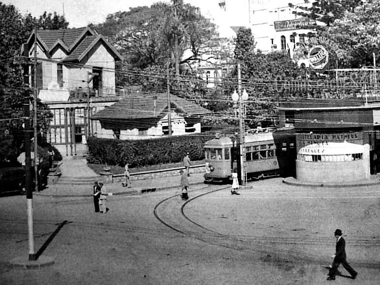 Chalé da Praça XV, na década de 1950, em Porto Alegre