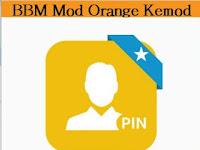 BBM Mod Orange Kemod V2.13.0.26 apk Terbaru