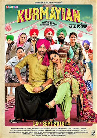 Poster Of Pollywood Movie Kurmaiyan 2018 300MB DVDRip 480P Full Punjabi Movie