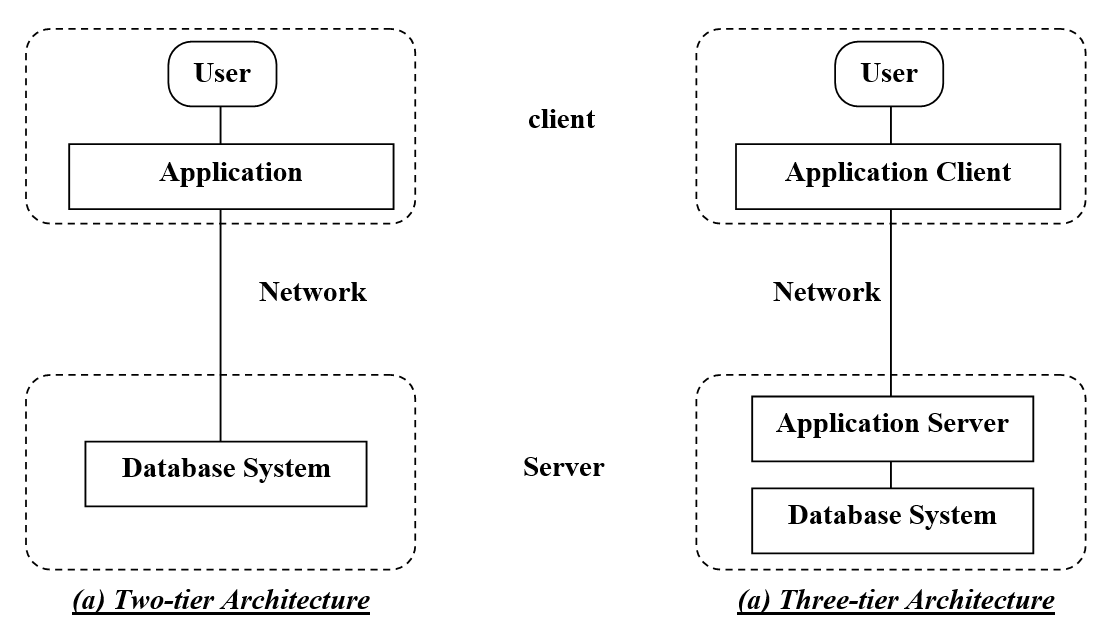 Briefly Describe The Two Tier And Three Tier Architecture Dbms