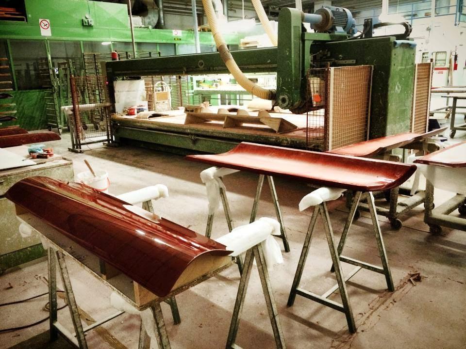Sonus Faber Aida side panels lacquering process picture set