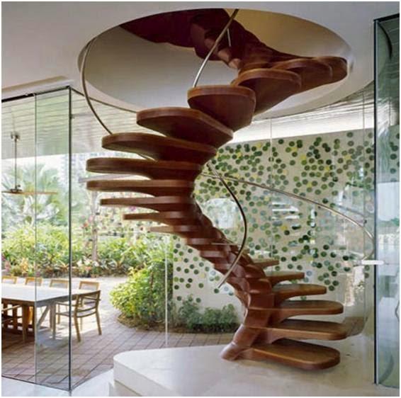Gambar Tangga Rumah Minimalis Kayu Model Sederhana Modern