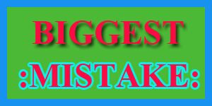 Blogger Mistakes