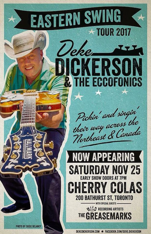 Deke Dickerson & The Eccofonics @ Cherry Colas, Saturday