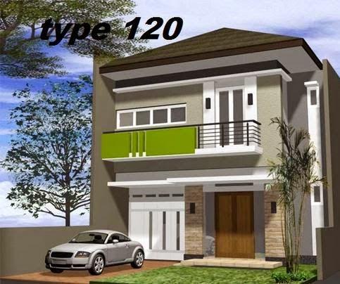 Rumah Minimalis 2 Lantai Type 120 terbaik